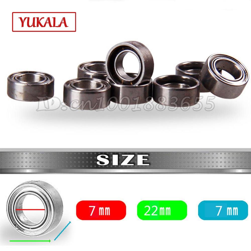 YUKALA 7*22*7mm bearings ball 10 pcs Free shipping RC tanks axle Bearings
