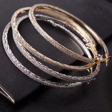 Круглые серьги-кольца 6 см, ювелирные изделия, бриллиантовые Стразы, кольцо для больших ушей, модный подарок для женщин CX17