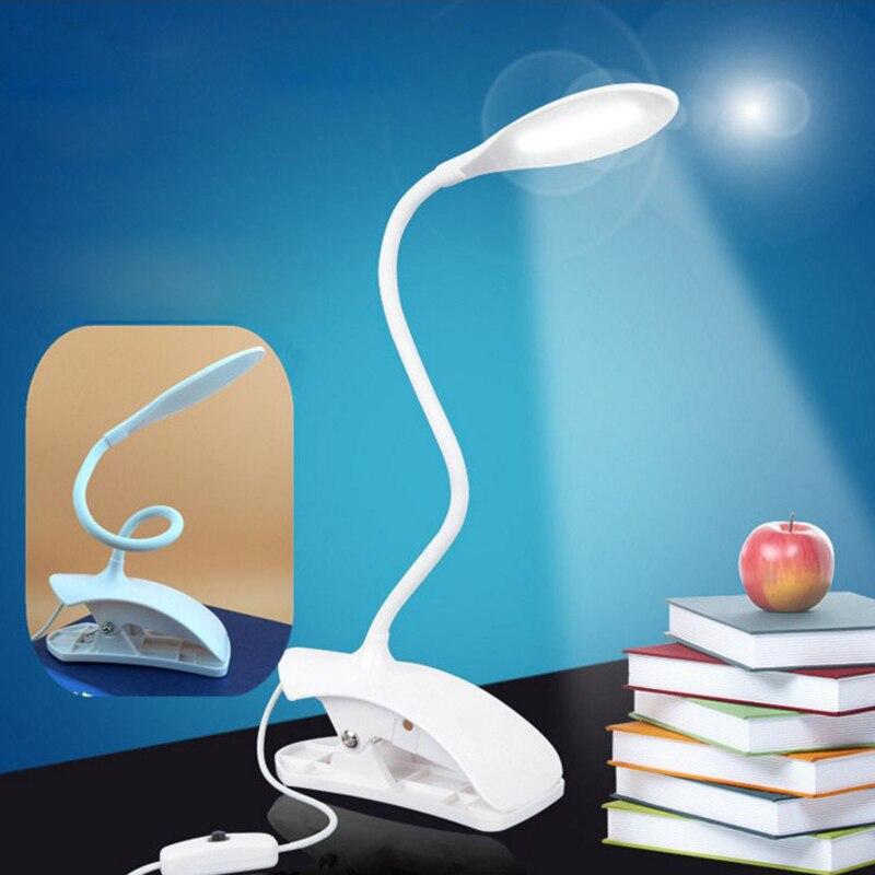 Geführt Augenschutz Schreibtischlampe Einstellbare Helligkeit USB Wiederaufladbare LED Schreibtisch Tischlampe Licht mit Clip Touch-schalter P25