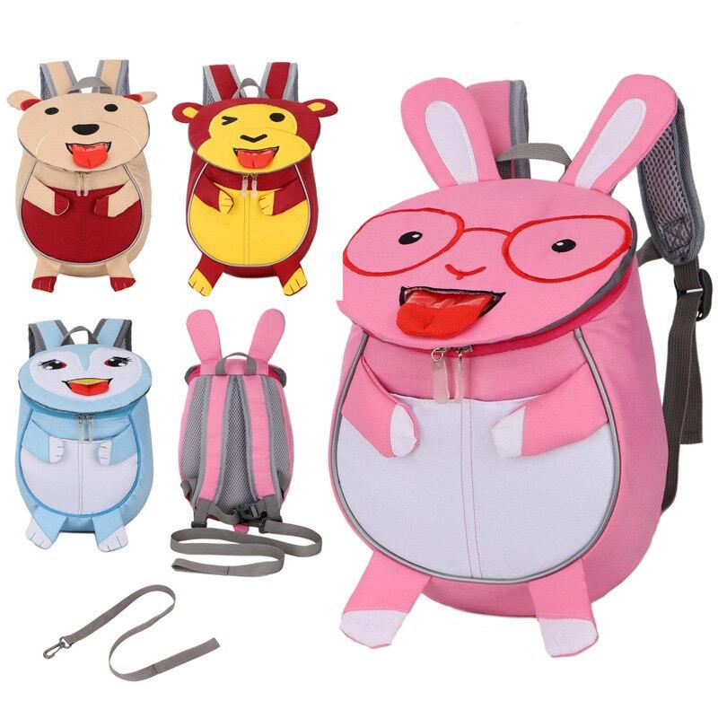 Новый 3D анти-потерянный рюкзак для девочек Дети Школьные сумки рюкзаки животных детский сад рюкзак для 2 до 6 лет Mochila Infantil