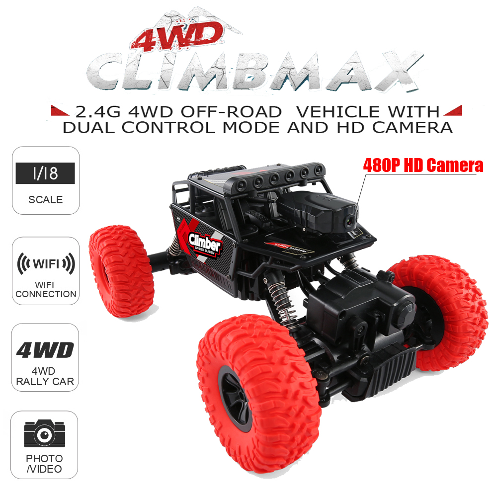 все цены на JJRC Q45 Remote Control Car 2.4G 1:18 4WD RC Climbing Car with Wifi FPV HD Camera Off-Road APP Control RC Car