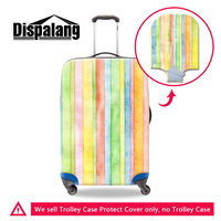 Dispalang Cute Custom Design Striped Thick Elastic Luggage Protective Covers With Zipper For 18 20 22