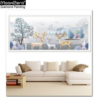 Hot Sale Animals Europe Diy Living Room Diamond Painting Cross Stitch Embroidery New Style Fortune Deer Gift Mosaic Crafts Decor