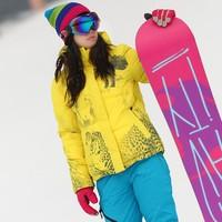 2018 Женская лыжная куртка Тепловой теплая одежда водонепроницаемый ветрозащитный Верхняя одежда сноуборд куртка Туризм Отдых цельнокроены