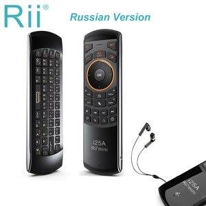 Image 1 - Rii I25A 2.4G Mini Bàn Phím Chuột Điều Khiển Từ Xa Với Tai Nghe Chụp Tai Cho Tivi Thông Minh Android TV Box Lửa tivi