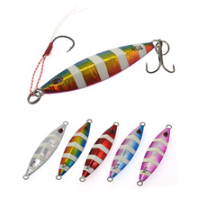 40g Japanese Leurre Saltwater Sinking Glow Jig Lure for Bass Fishing
