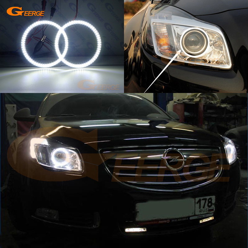 For Opel Insignia 2008 2009 2010 2011 2012 2013 Excellent Ultra bright illumination smd led Angel Eyes kit DRL for opel insignia 2008 2009 2010 2011 2012 2013 excellent ccfl angel eyes kit ultrabright illumination angel eyes kit halo ring
