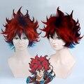 25cm Bakumatsu Rock Sakamoto Ryouma Red Blue Gradient Cosplay Wig