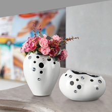 New Modern rhinestone ceramic vase Home Decorative crafts flower vases hydroponic dried flowers flowerpot for wedding decoration new modern rhinestone ceramic vase home decorative crafts flower vases hydroponic dried flowers flowerpot for wedding decoration