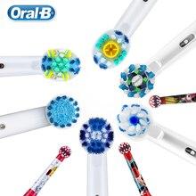Головка щетки для Oral-B 2D 3D Электрический поворотный Зубная щётка взрослых детей 2 шт. Dupont щетины ежедневно зубы чистыми ежедневно налет удалить