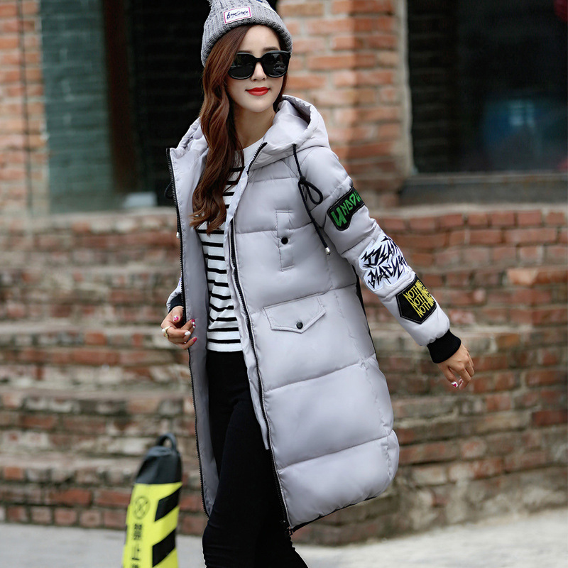 Thickening Winter Women Coat Warm Down Cotton Coat for Woman Long Coat Jacket Hooded Padded Outwear