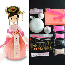 DIY Slime Colorful Fluffy Foam Clay Dolls Chinese Costume Grils XPP-JX Gift For Children Handwork Education Craft Slime Toys
