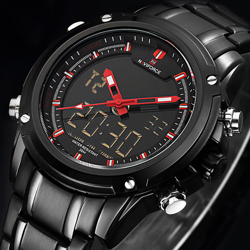 Top luxe marque NAVIFORCE hommes militaire LED étanche montres de sport hommes horloge mâle Quartz montre-bracelet Relogio Masculino 2019