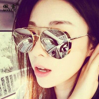 2017 vente chaude de mode de femmes lunettes de soleil épaissie paragraphe femmes lunettes de soleil le même paragraphe avec misss ventilateur en gros