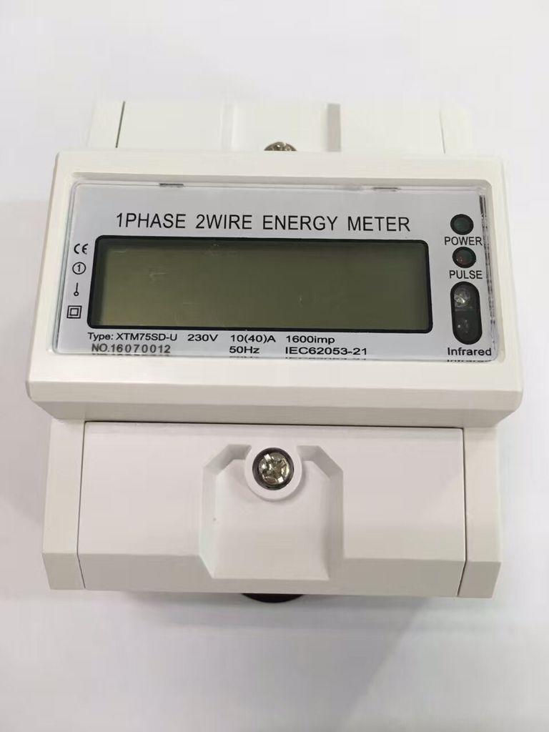 Compteur d'énergie triphasé de Rail Din compteur de tension de courant Wattmetter ampèremètre voltmètre affichage électronique de rétro-éclairage LCD