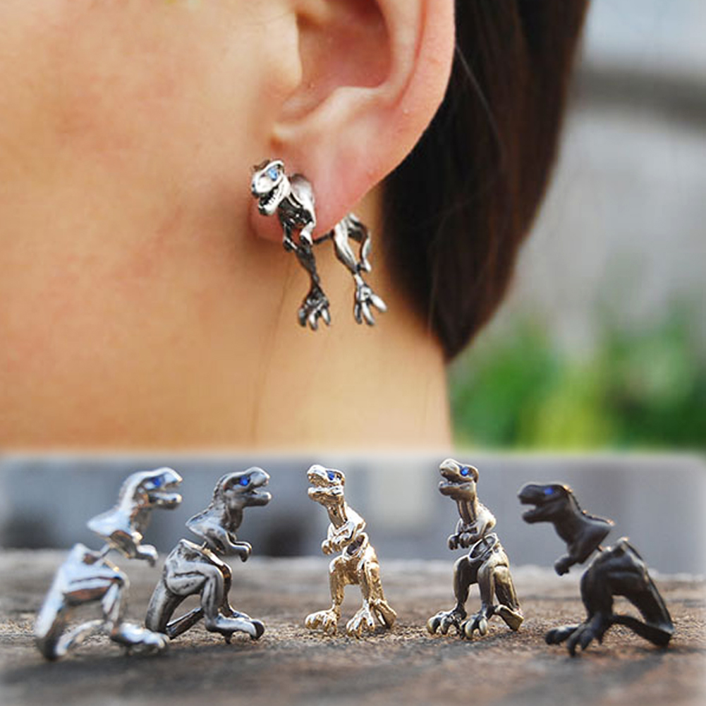 1 Pcs T-Rex Dinosaur Earrings