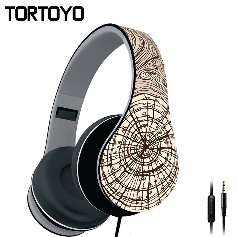 Stylish Spider Web Foldable Wired Pc Phone Headphone Over