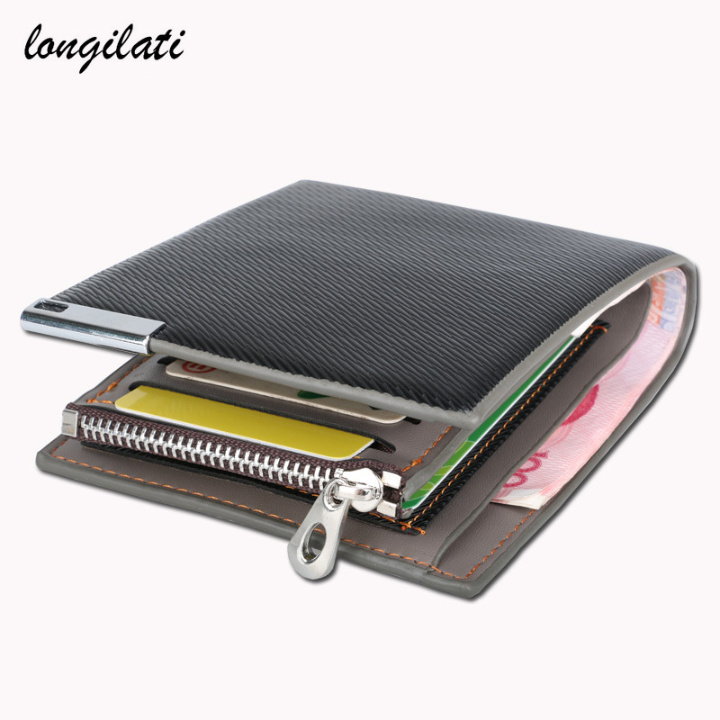 Men Cowhide wallet Top Quality Wallet Card Holder Multi Pockets Credit Cards Purse For Male Simple Design Brand Purses