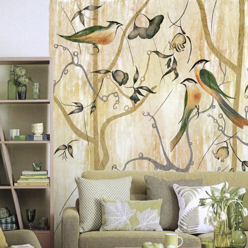 The bliss jungle wallpaper wall seamless non-woven self-adhesive art entrance mural custom bedroom large murals free shipping borges suspended large scale non woven paper art wallpaper murals custom size