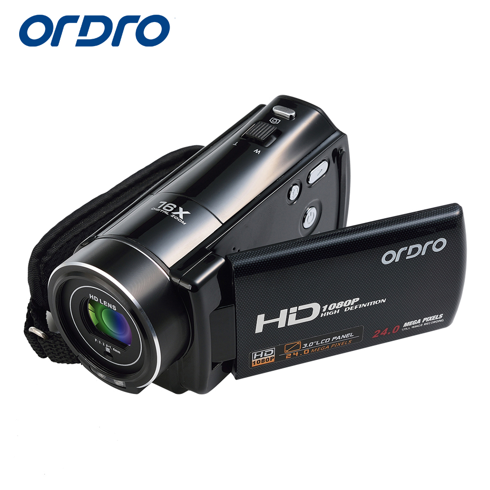 Ordro HDV-V7 WIFI 1080P Full HD Digital Video Camera Camcorder 24MP 16X Zoom Recoding 3.0 LCD Screen remote control