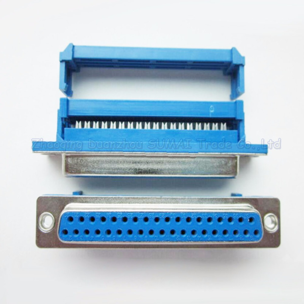 DB37 female socket connector jack Pressure wire type Crimp type ...