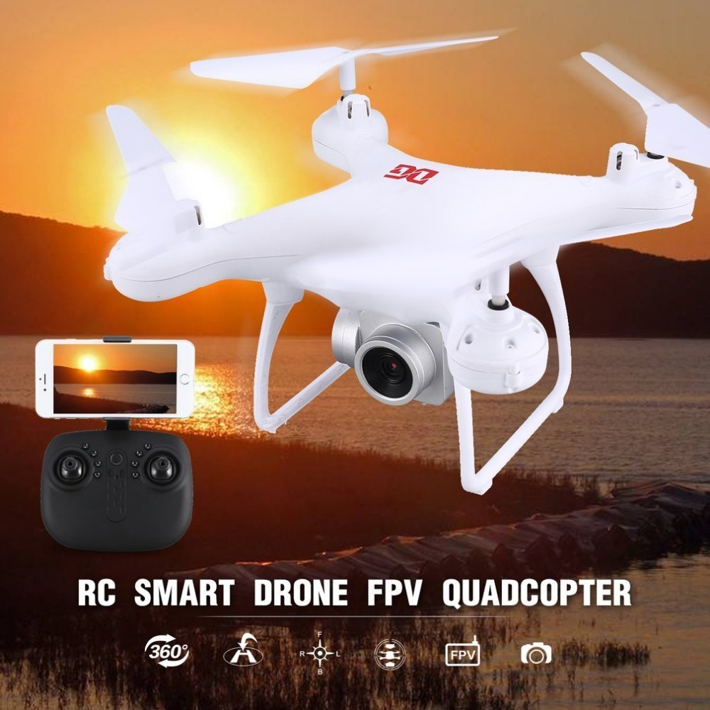 XG183 2.4G RC Selfie Smart Drone FPV Quadcopter Aircraft with 0.3MP HD Camera Real -time Altitude Hold Headless Mode 3D Flip