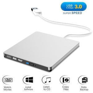 Image 3 - Внешний оптический привод USB 3,0 для ноутбуков и настольных ПК, внешний портативный dvd накопитель серебристого и белого цвета