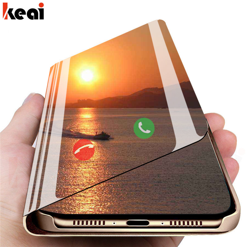 Flip Standing Case For Xiaomi Redmi Note 7 6 K20 Pro 5 Plus 6A 4 4X Mirror Leather Cover For Xiaomi Mi 9 SE A2 8 Lite A1 S2