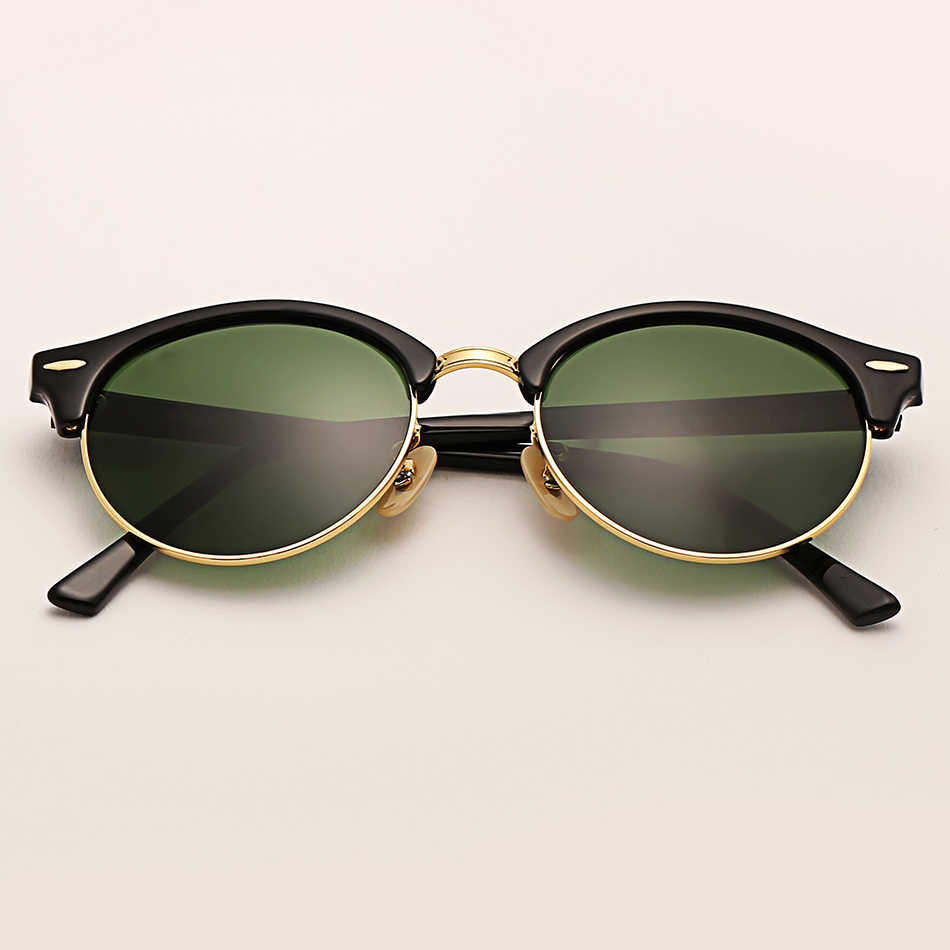 6e4835181d16 Bolo.ban club sunglasses women 51mm TR frame glass lens mirror round sun  glasses oculos