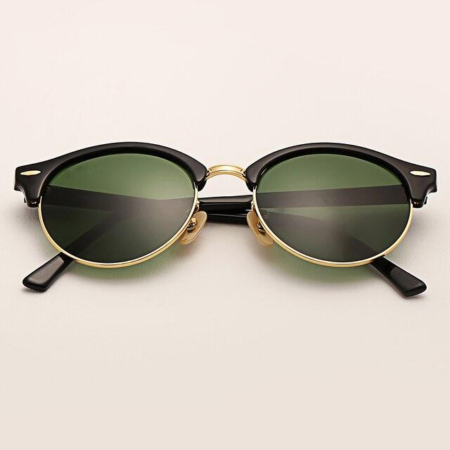 891b1d960 Bolo.ban 4246 club sunglasses women 51mm TR frame glass lens mirror round sun  glasses