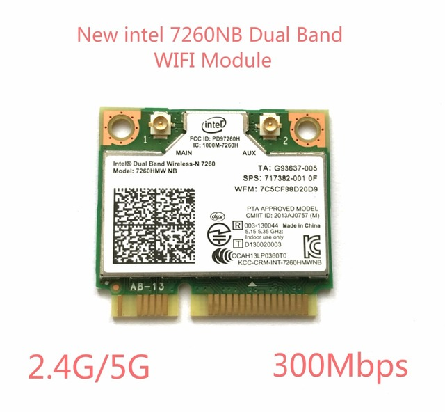 US $11 8 |intel Dual Band Wireless N 7260 7260HMW NB Half Mini PCIe PCI  express WLAN WIFI Card Module 802 11 a b g n-in Network Cards from Computer  &