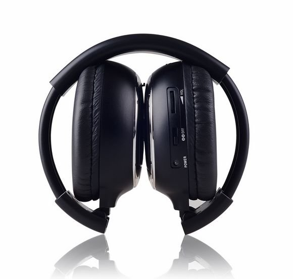 Freee shipping Infrared Stereo Wireless Headphones Headset  IR in Car roof dvd or headrest dvd Player A channels 9 inch car headrest dvd player pillow universal digital screen zipper car monitor usb fm tv game ir remote free two headphones