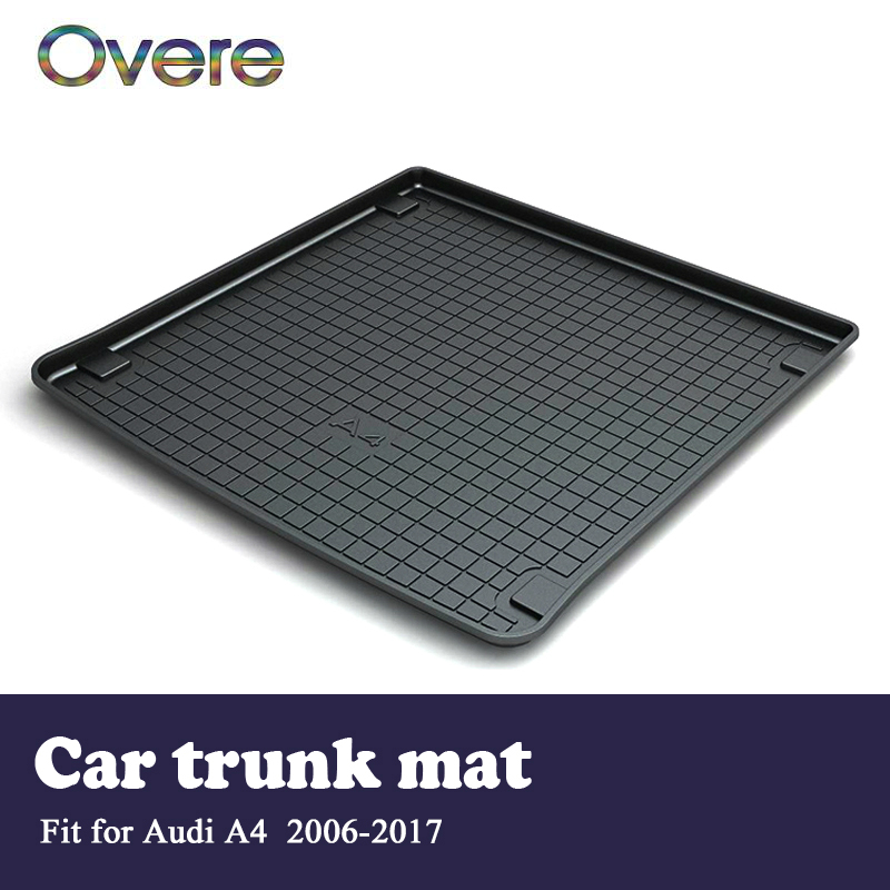 Overe 1Set Car Cargo rear trunk mat For Audi A4 B8 2006 2007 2008 2009 2010 2011 2012 2013 2014 2015 2016 2017 Accessories for audi a4 b8 s4 a4 allroad 2008 2009 2010 2011 2012 2013 2014 2015 car styling right side led fog light fog lamp