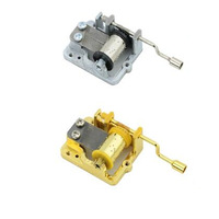 Hand Crank Craft DIY Music Box Movement Set 18 Tones Mechanical Hand Crank Movements Parts For