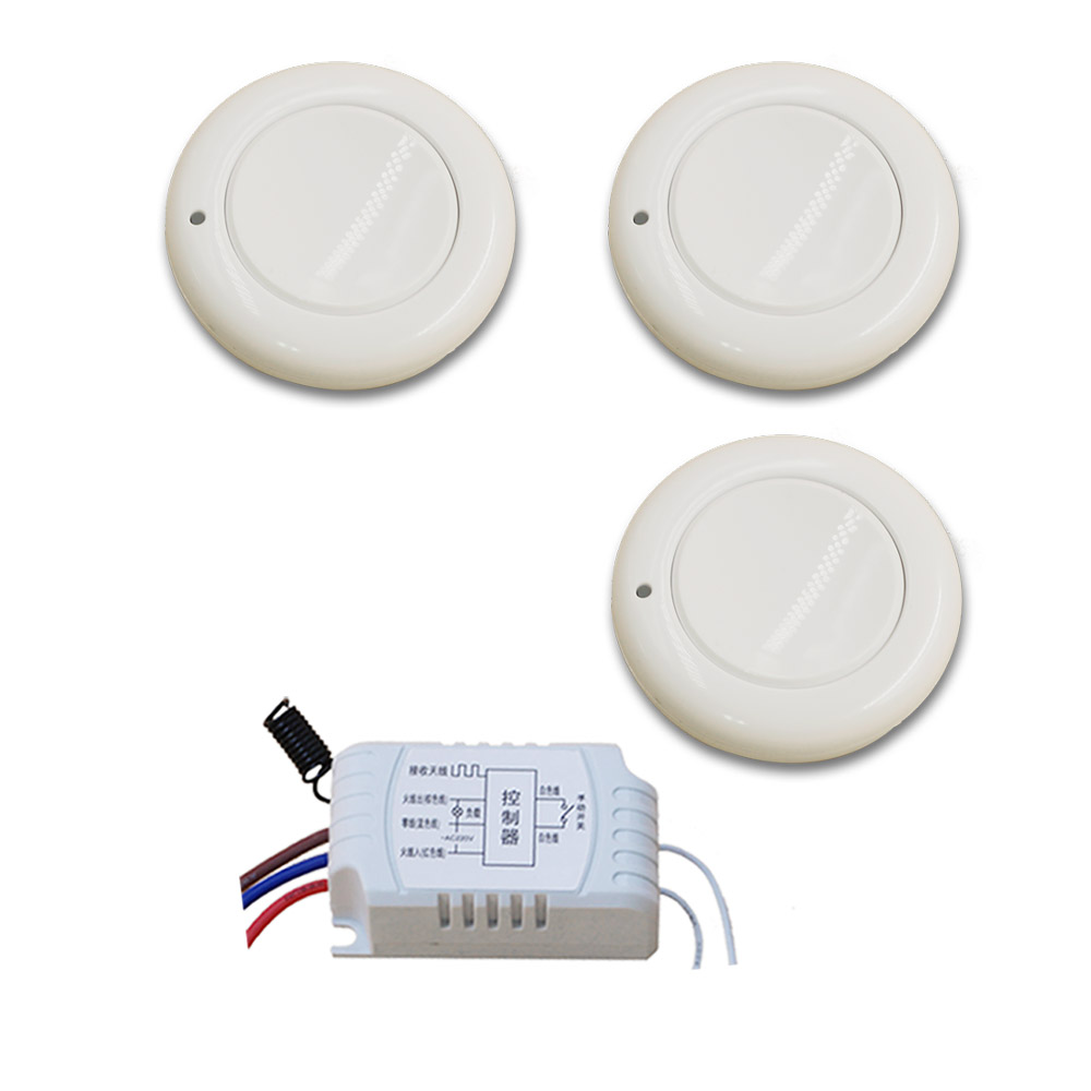 AC220V 1CH Remote Switch Wall Lamp Ceiling Light LED Bulb Wireless Remote Control Switch Smart Home RF Receiver Free Shipping keyshare dual bulb night vision led light kit for remote control drones