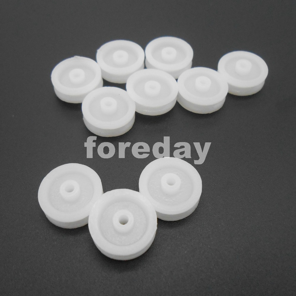 10Pc 2*13mm Plastic Pulley Wheel 1.9mm Hole for 2mm Motor Shaft Model Pulley Toy