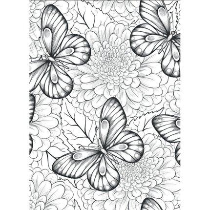 Flowers Story Coloring Books For Adults Children Relieve Stress Graffiti Painting Drawing Secret Garden Art