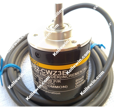 OMR 1pc Incremental Rotary Encoder E6B2-CWZ3E 500P/R, 500PPR E6B2 CWZ3E, 5-12VDC, free manual and installation instruction