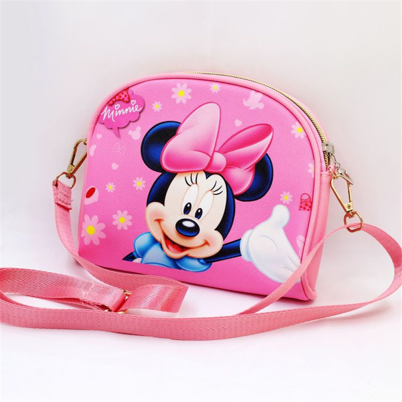 Disney Children Handbags Tsum Mickey Mouse Minnie Anime Cartoon PU Little Girl Messenger Bag Frozen Princess Sophia Shoulder Bag