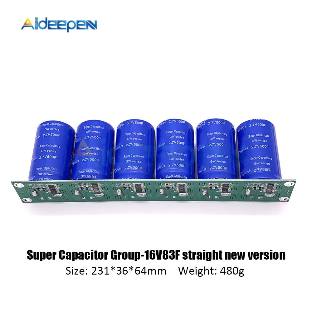 Super Capacitor 2.7V-500F Screw Foot Single Row 16V-83F Farad Capacitor Module