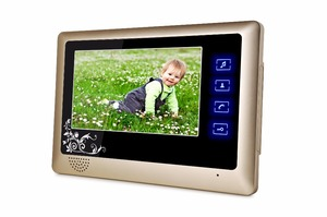 "Image 3 - New Wired 7"" Video Door Phone Intercom System RFID Keypad Code Number Doorbell Camera Monitor Wireless unlocks + Electric Lock"