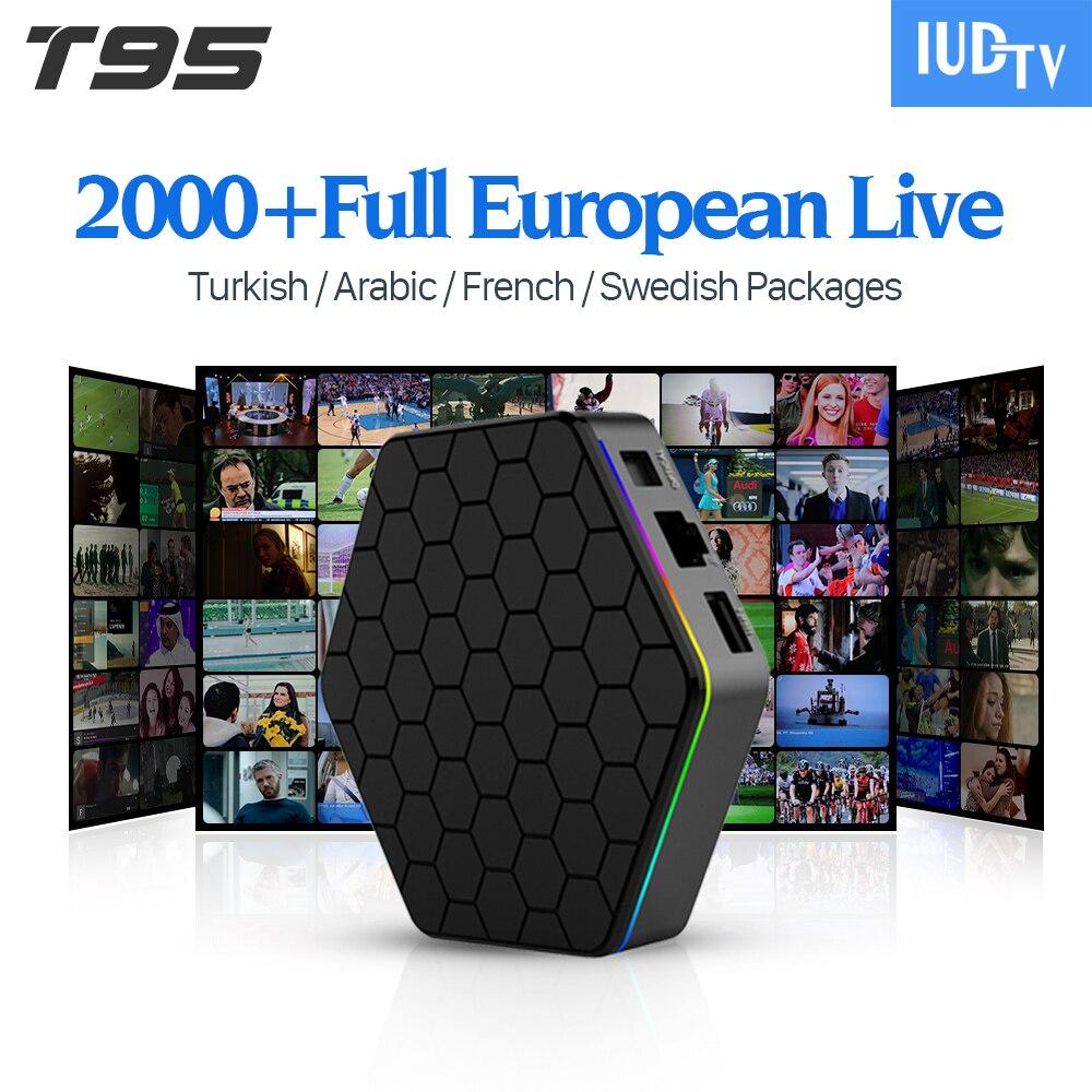 T95Zplus European Arabic French Italian Turkey IPTV Channels Android 6.0 IPTV Box Amlogic S912 Spain Portugal Set Top Box