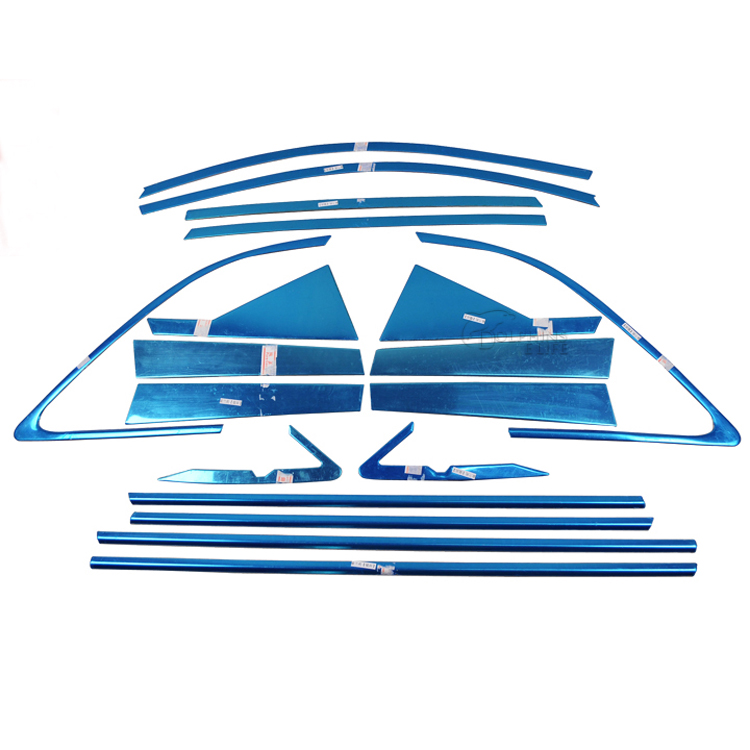 For Kia Sorento 2009 2010 2011 2012 2013 2014 Stainless Steel Full Window Trim Decoration Door Strips Car Styling Windows Cover car styling stainless steel center control panel switch cover decoration for audi a4 b9 q5 8r 2009 2010 2014 2015 car styling