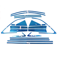 For Kia Sorento 2009 2010 2011 2012 2013 2014 Stainless Steel Full Window Trim Decoration Door Strips Car Styling Windows Cover