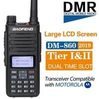 Baofeng DM 860 Dual Band Dual Time Slot DMR Digital Analog 136 174 /400 470MHz Ham Walkie Talkie Two Way Radio DM 1801