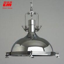 Винтажные подвесные светильники в стиле лофт, кованые ретро лампы Эдисона, потолочные светильники в стиле индастриал, для бара, гостиной, хромированные подвесные лампы ZDD0006