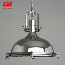 Pingente vintage para loft, ferro forjado, retro, edison, pendurado, lâmpada industrial, bar, sala, cromado, lâmpadas pendentes, zdd0006