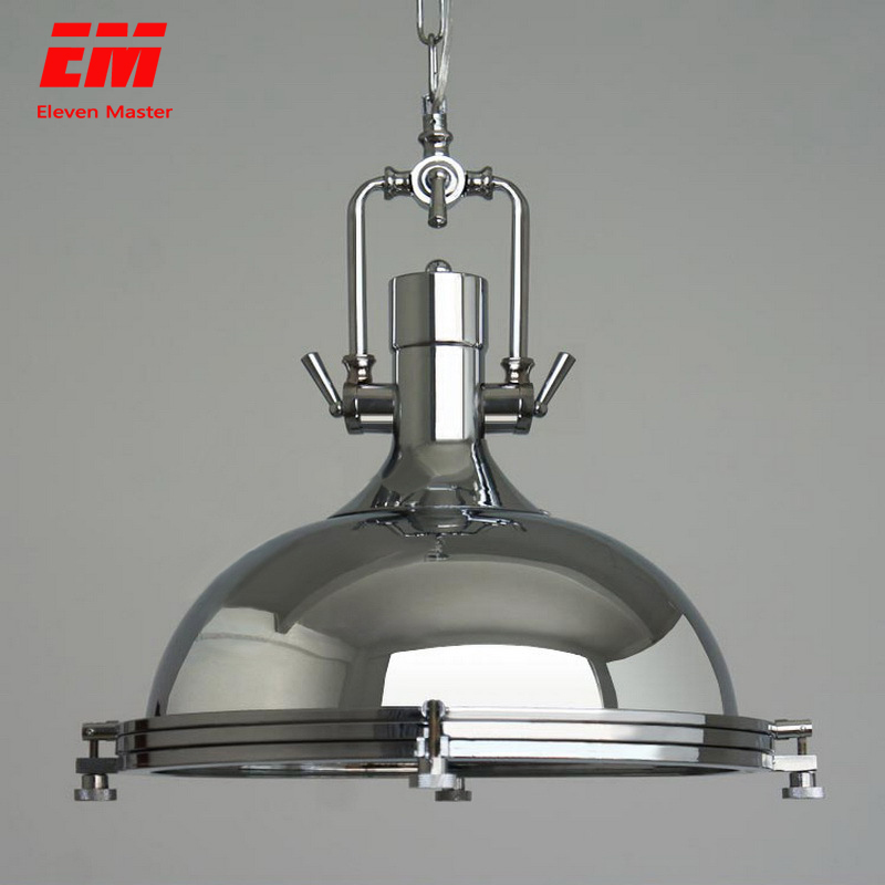 Vintage Loft Pendant Lights Wrought Iron Retro Edison Hanging Lamp Industrial Bar Living Room Chrome Pendant Lamps ZDD0010
