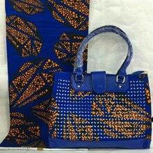 África Diseño Mujer de Color Mulit Bolso de alta Calidad Y Tela Bolso Estilo nigeriano Y Impreso Tela de la Cera Para El Partido TX-520