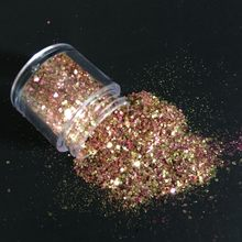 1 Box Mix 10ML Chunky Glitter Sequins Face Body Nails Hair Gems Beauty Makeup Glitter Powder Sequins for Festival & Party MA03(China)